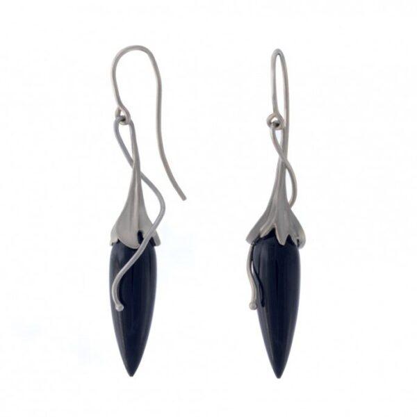 Black Jade Earrings