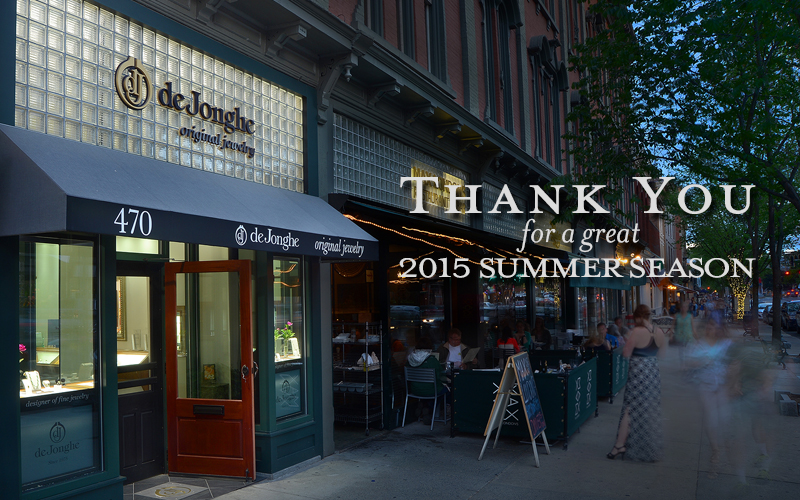 Thank you for a great 2015 Summer Season