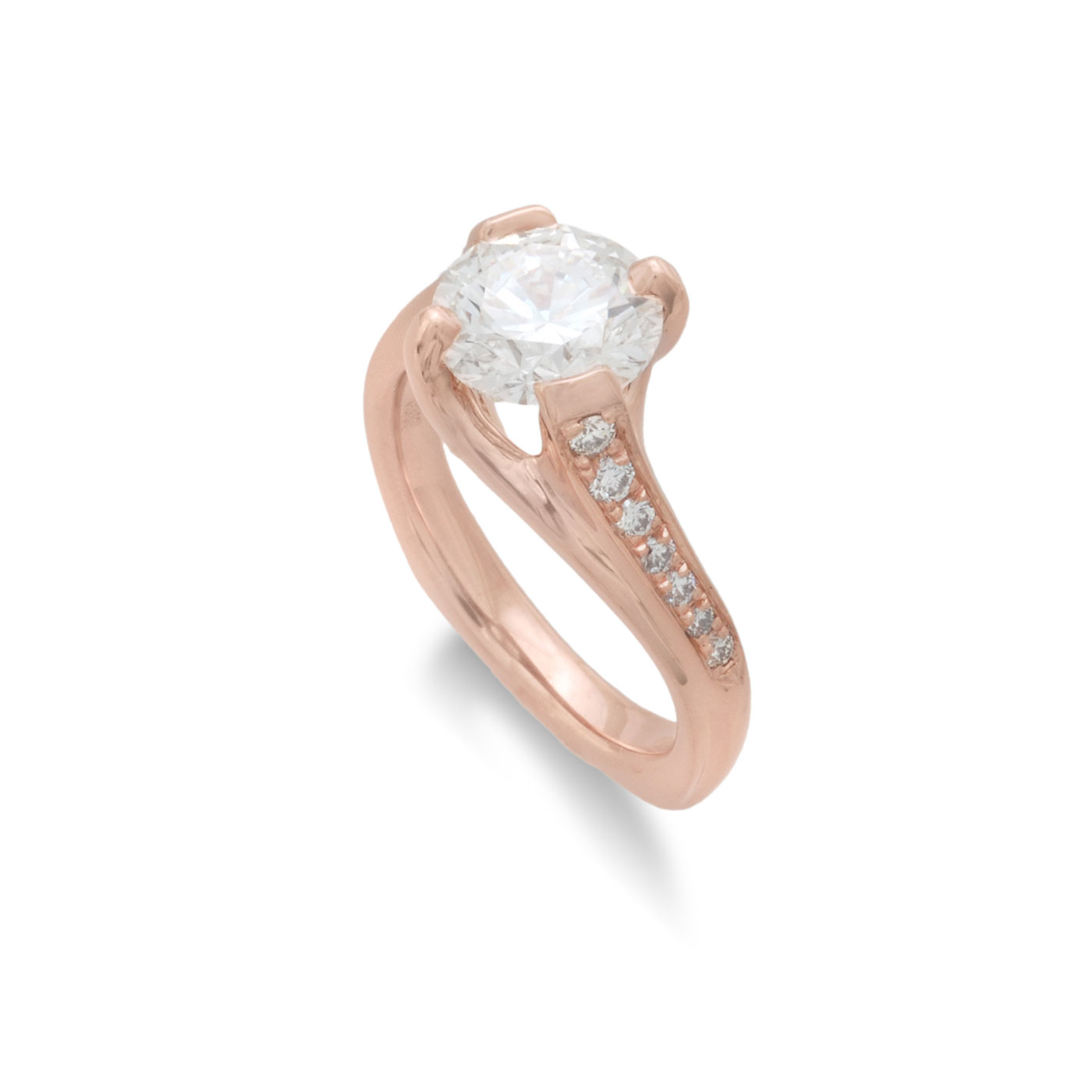 C5697 Rose Gold Engagement Ring