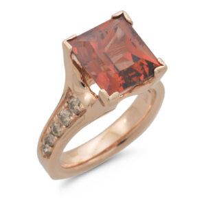 C6396 Rectangle Garnet Ring