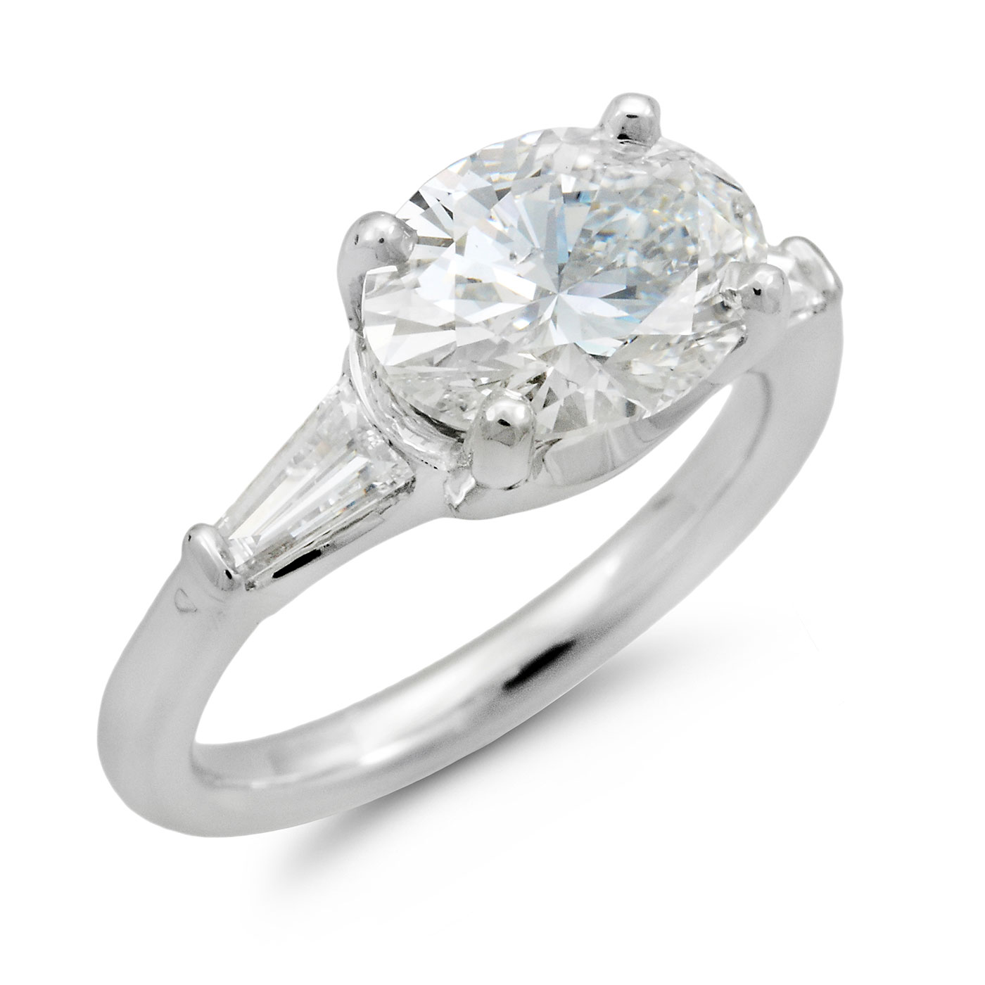 C6612 Saddle Set Oval Diamond Engagement Ring