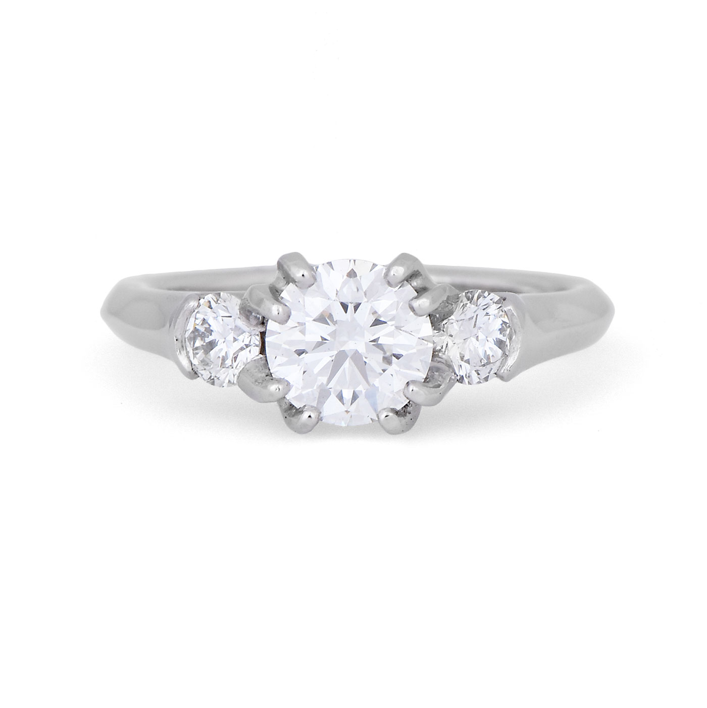 C7991 Double Prong Diamond Engagement Ring