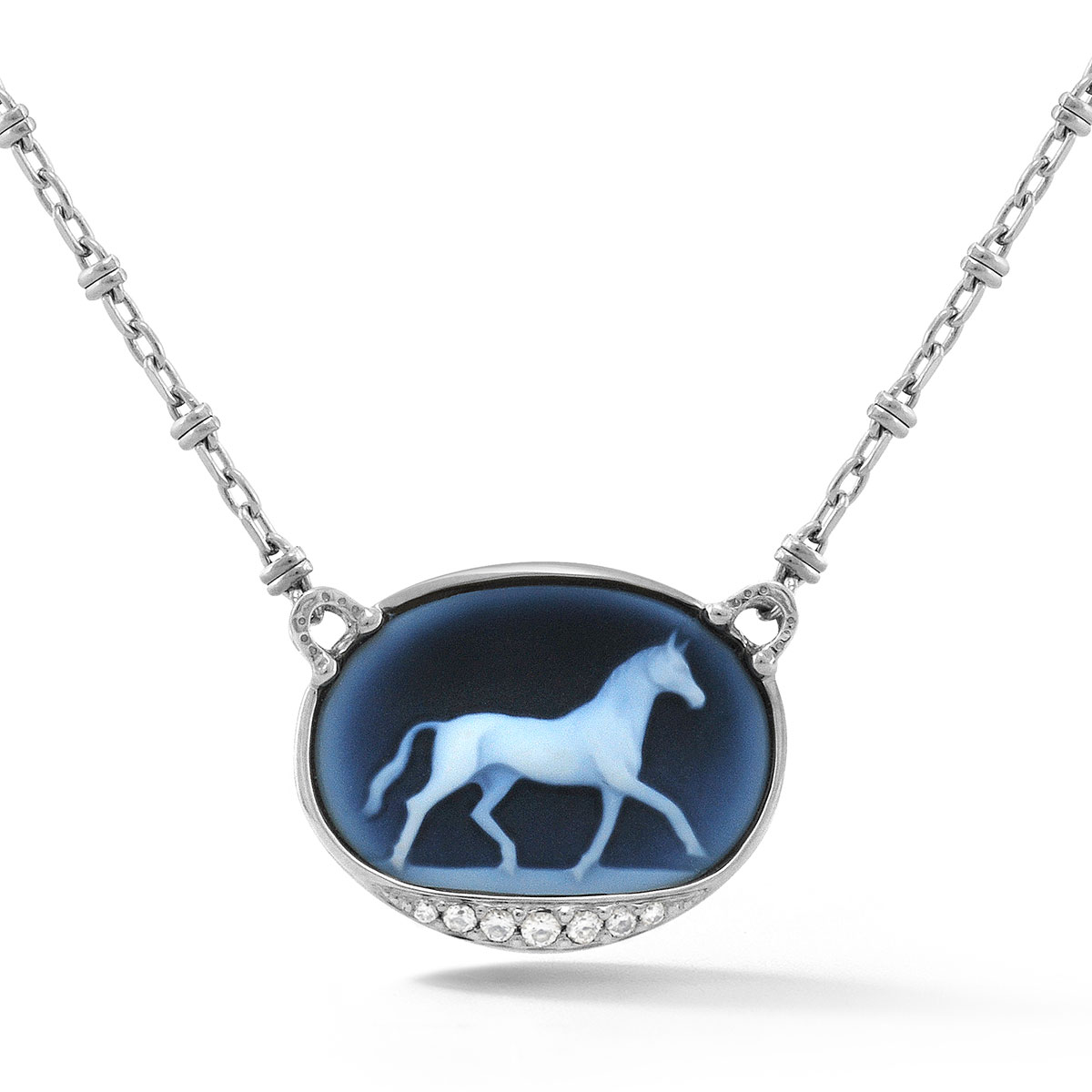 HNP0843 Equestrian Cameo Pendant