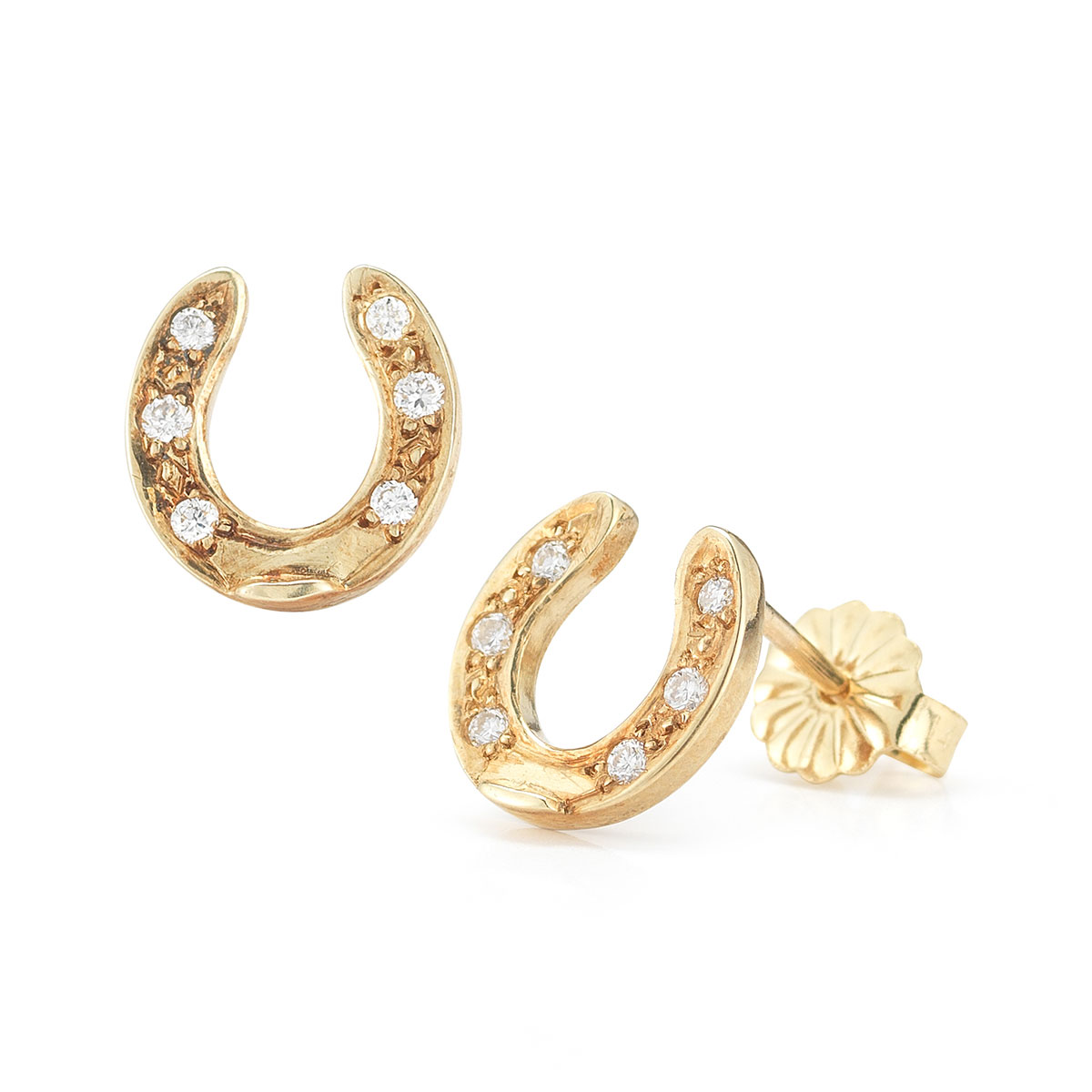 HSER0842 Diamond Horseshoe Earrings