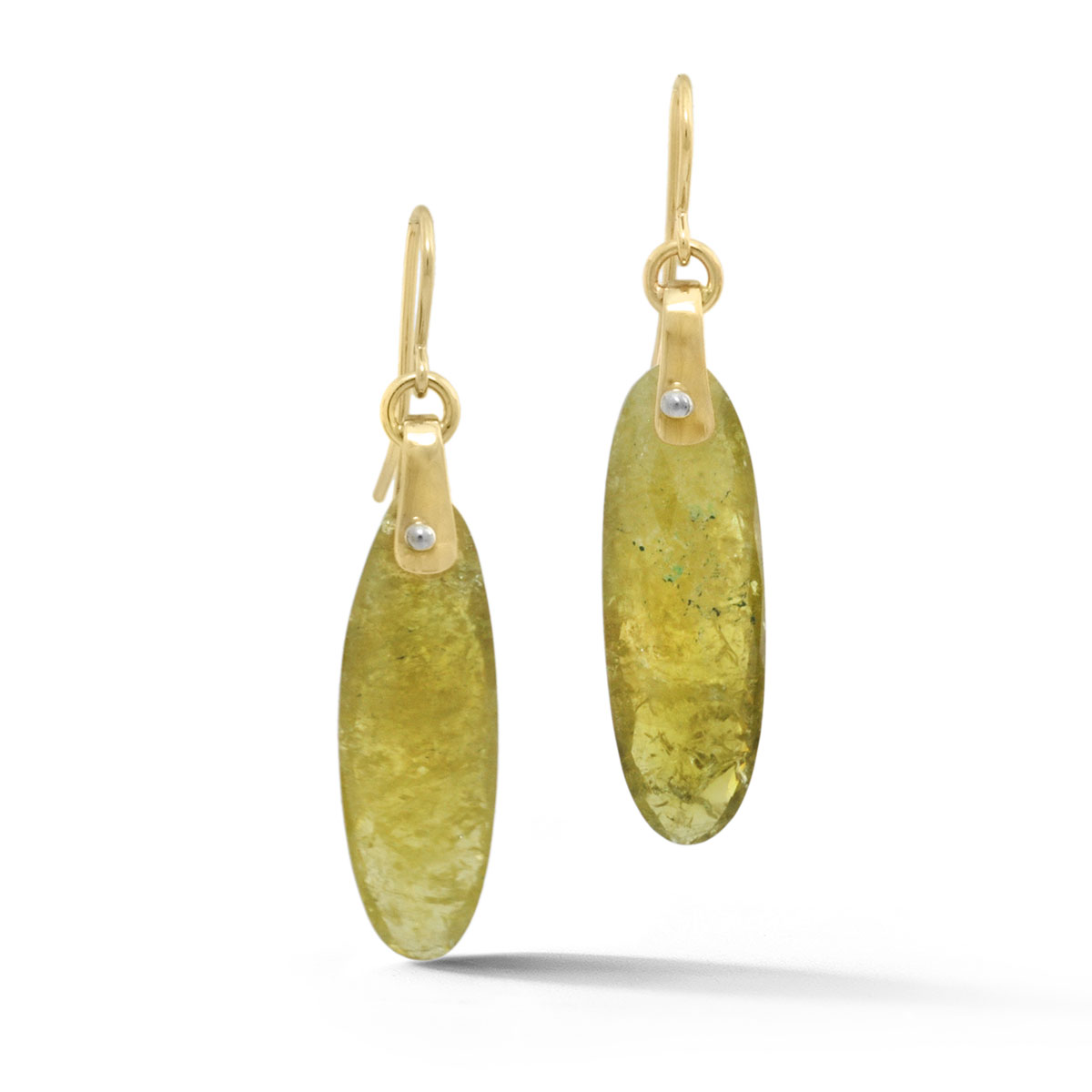 ER0207 Tablet Gemstone Drop Earring
