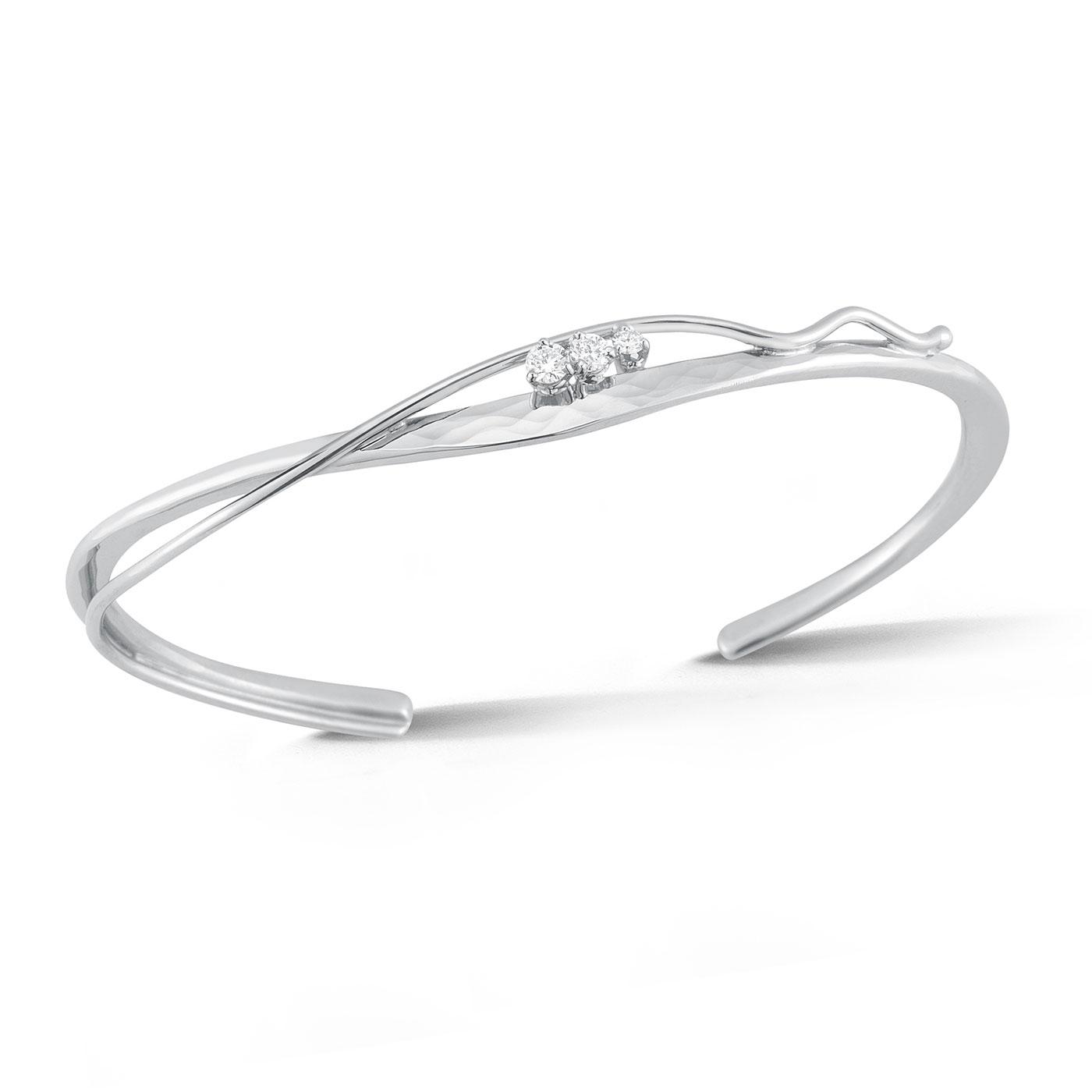 Hammered Cuff Diamond Bracelet