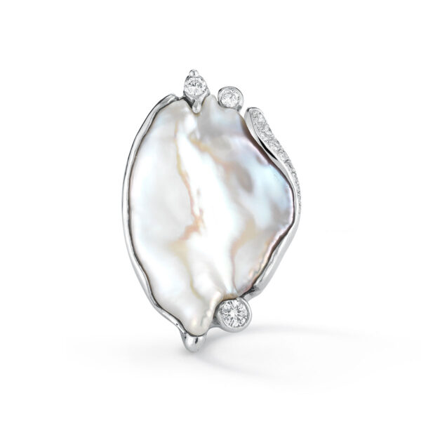 IND0971 Baroque Freshwater Pearl Ring