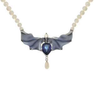 IND0870 Tanzanite and Blue Chalcedony Pendant
