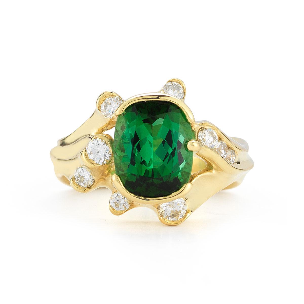 IND0976 Green Tourmaline Ring