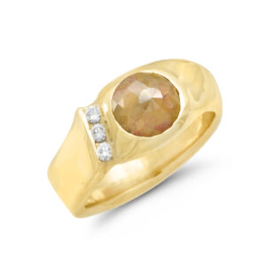 IND0982 Men's Rough Diamond Ring