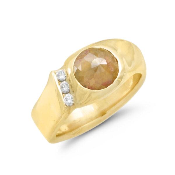 IND0982 Men's Rough Diamond Ring