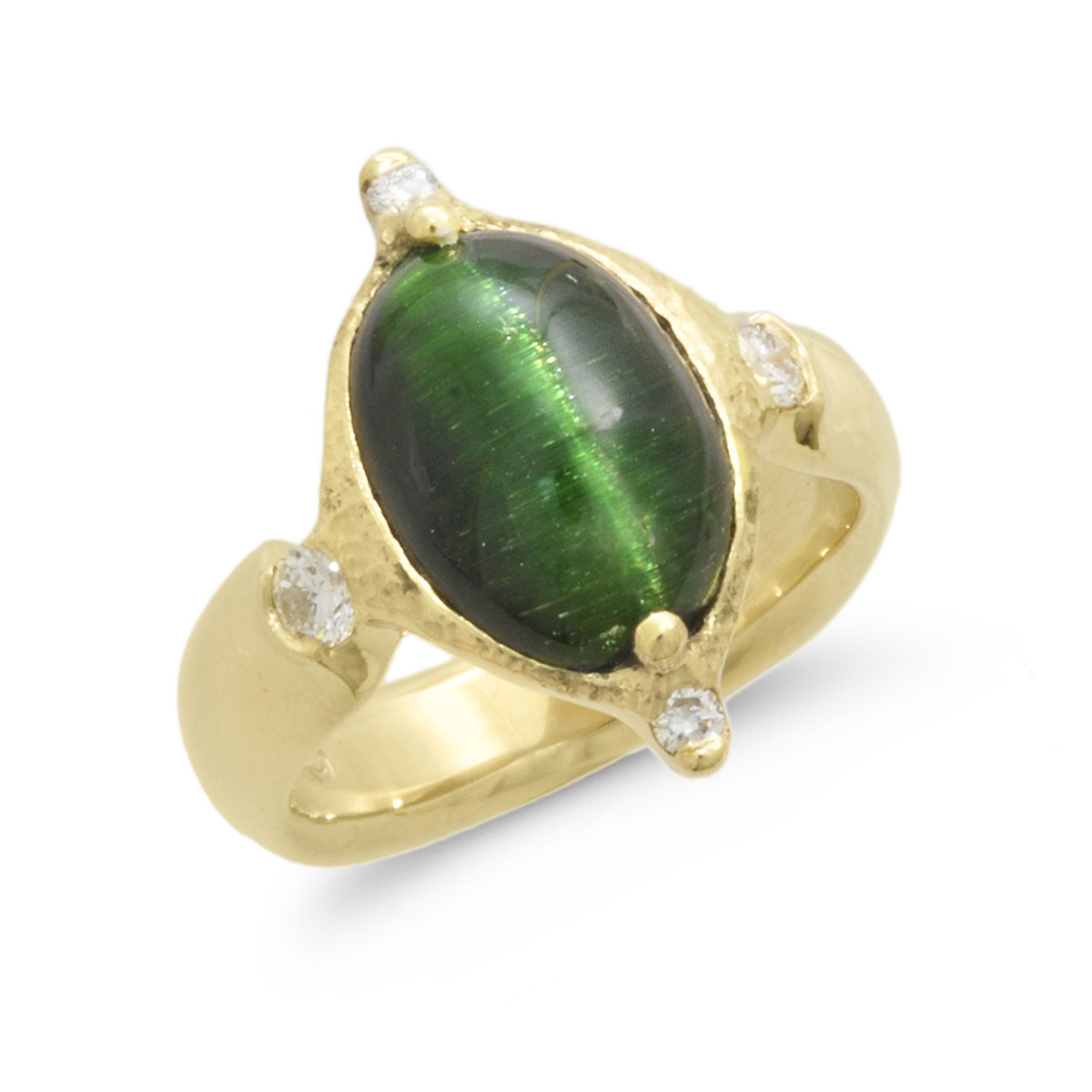 IND0985 Cat's Eye Tourmaline Ring