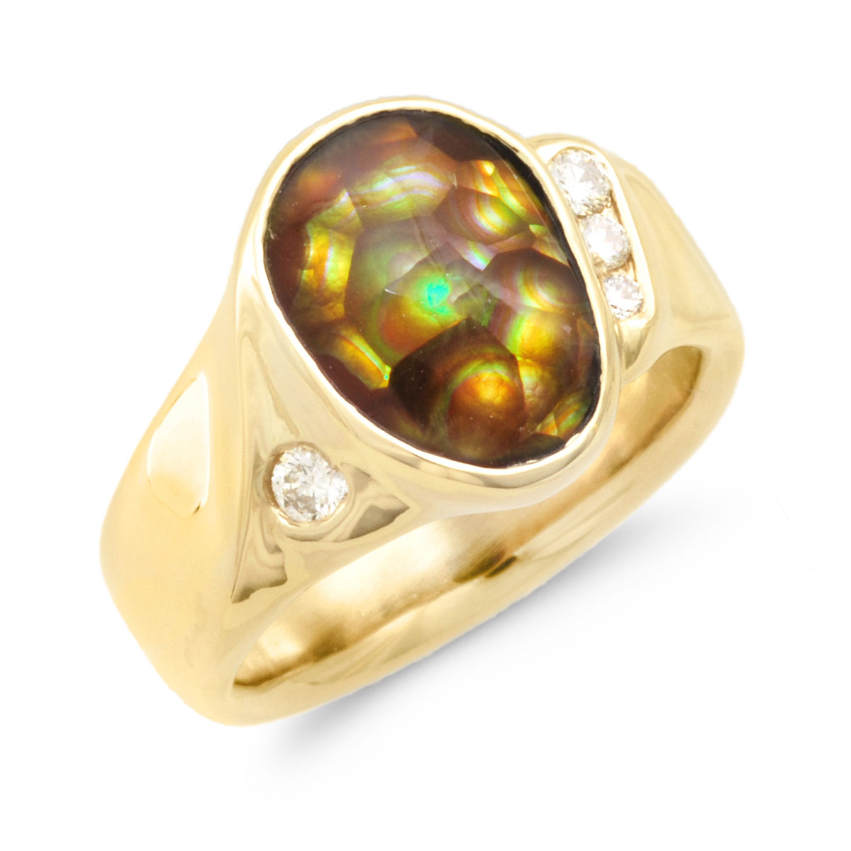 IND0988 Men's Fire Agate Ring