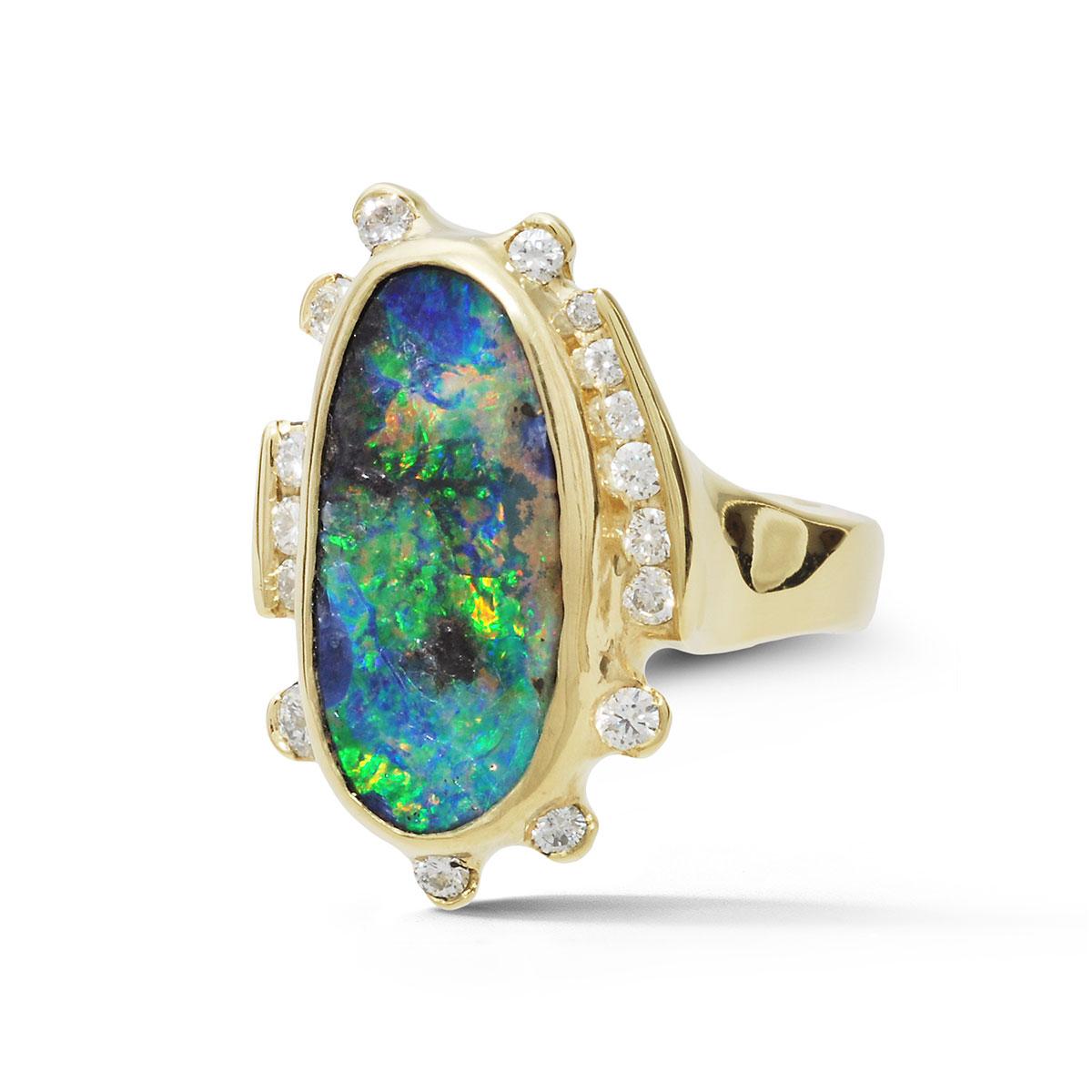 IND1029 Boulder Opal Ring