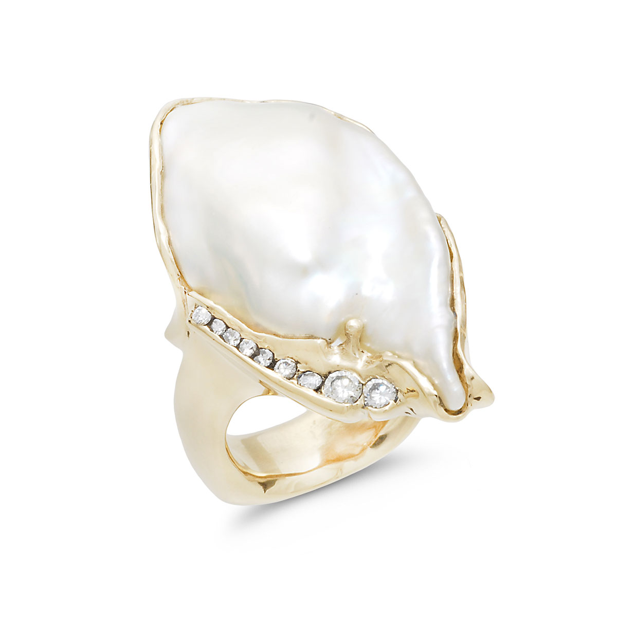 IND1035 Freshwater Baroque Pearl Ring