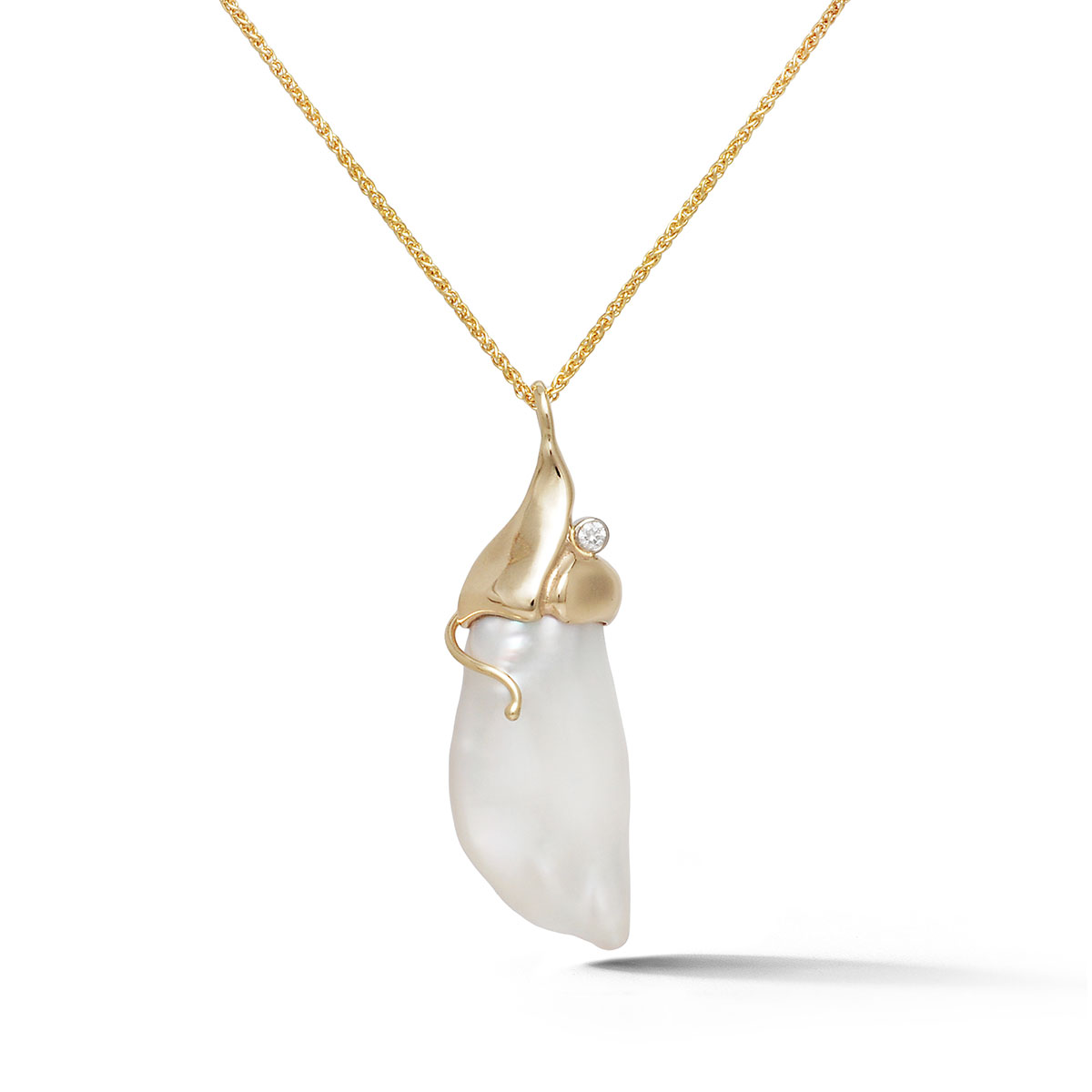 IND1040 Freshwater Baroque Pearl Pendant
