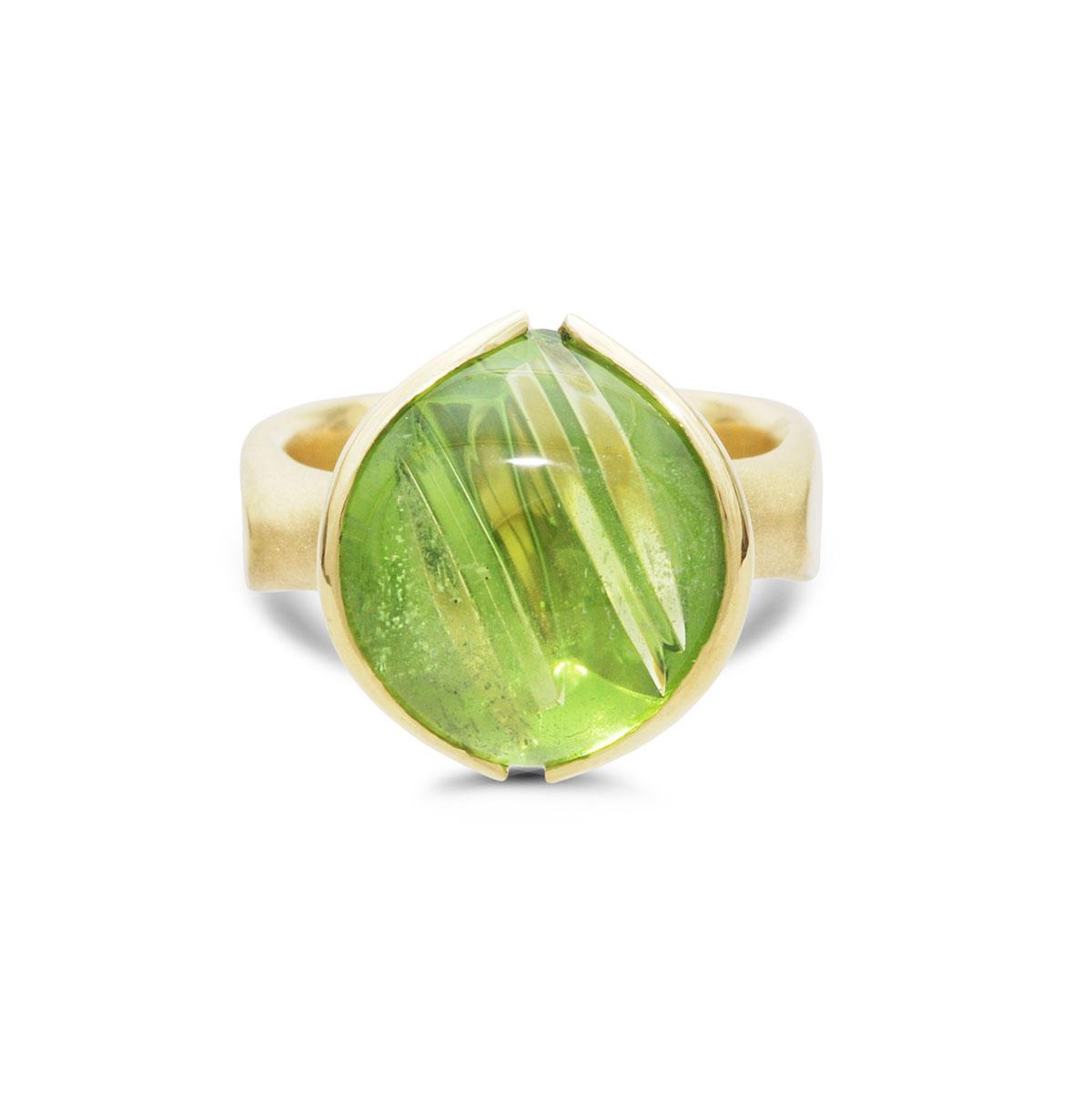 IND1048 Custom Peridot Ring