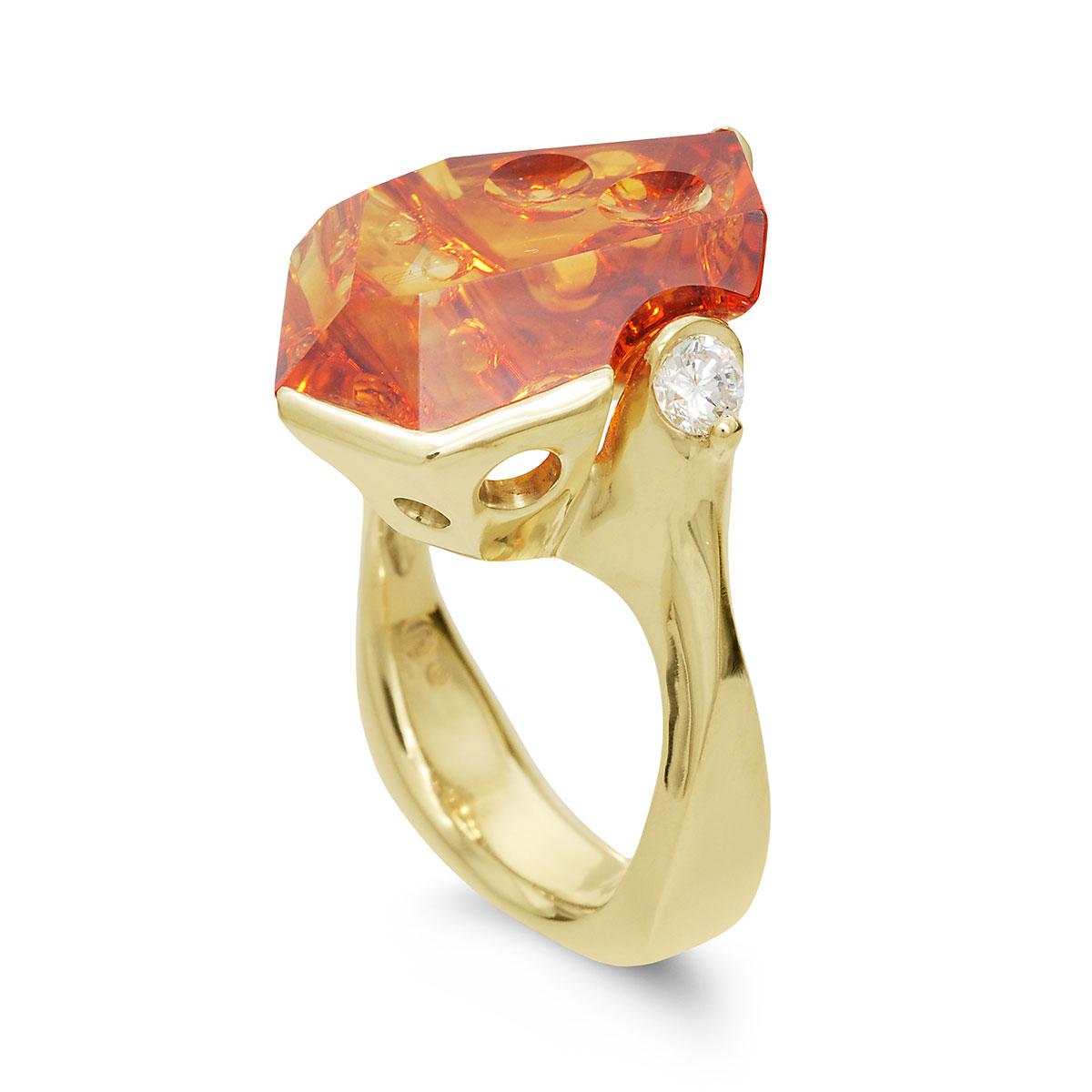 IND1049 Custom Citrine Ring