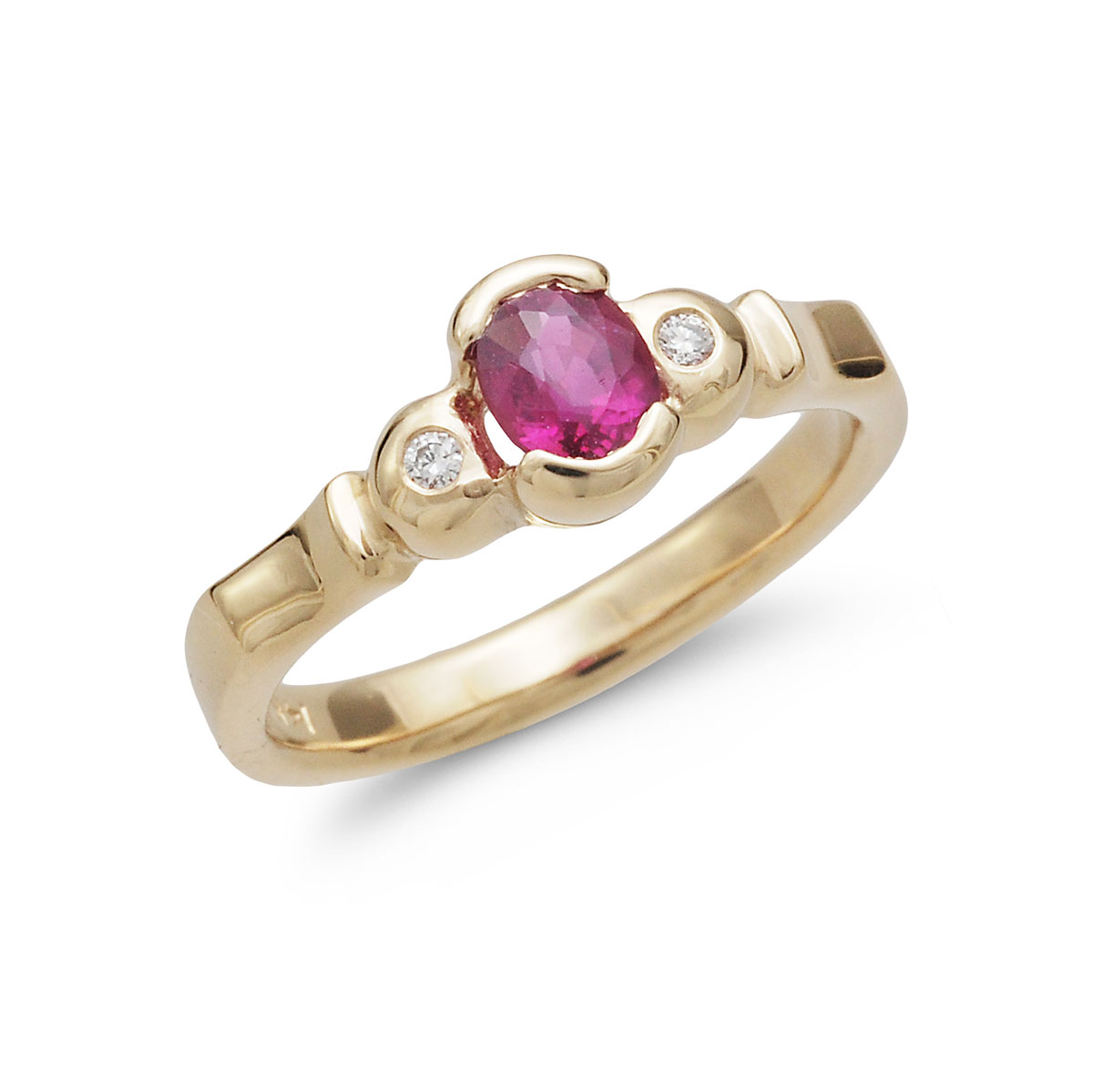 IND1051 Oval Ruby Ring