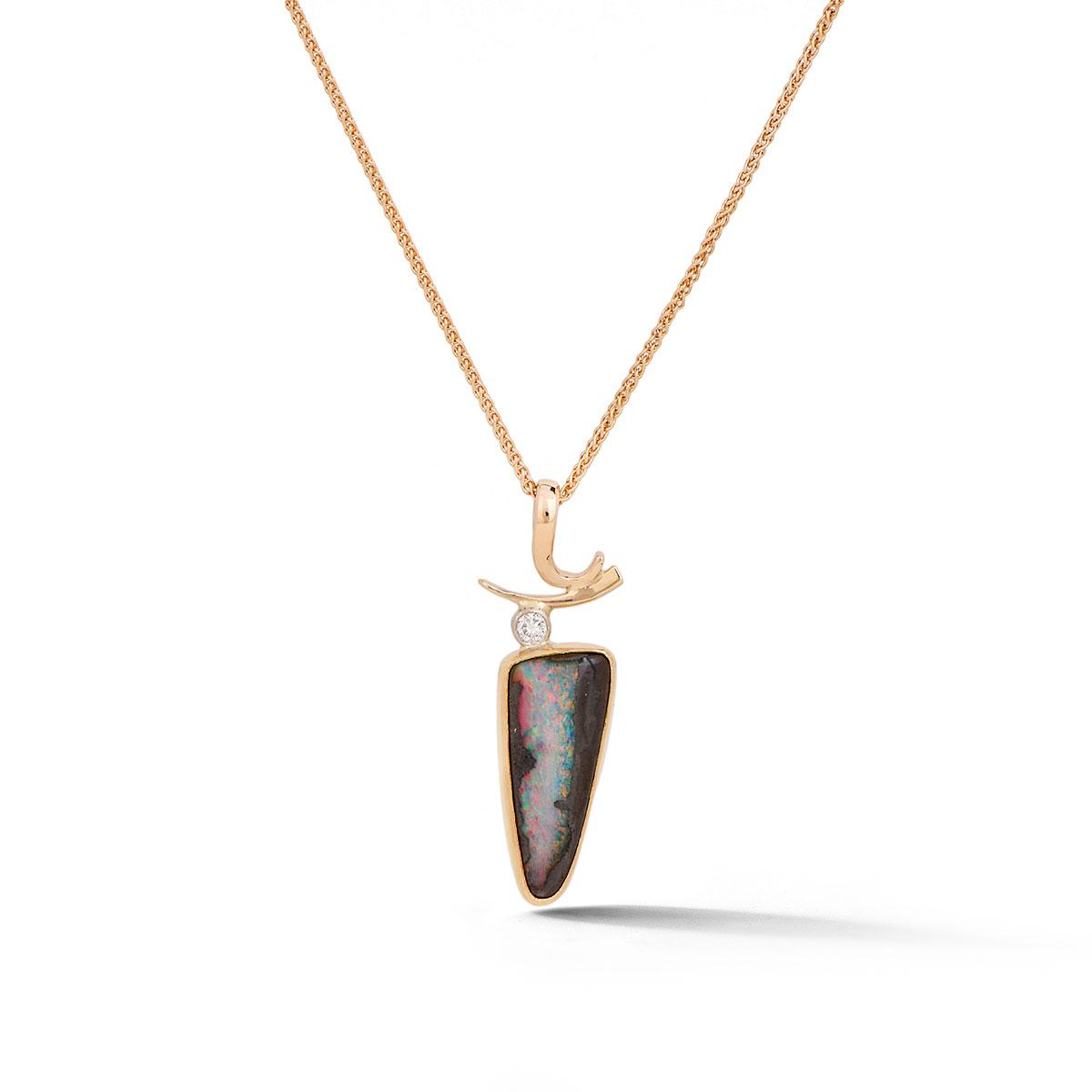 IND1065 Boulder Opal Pendant