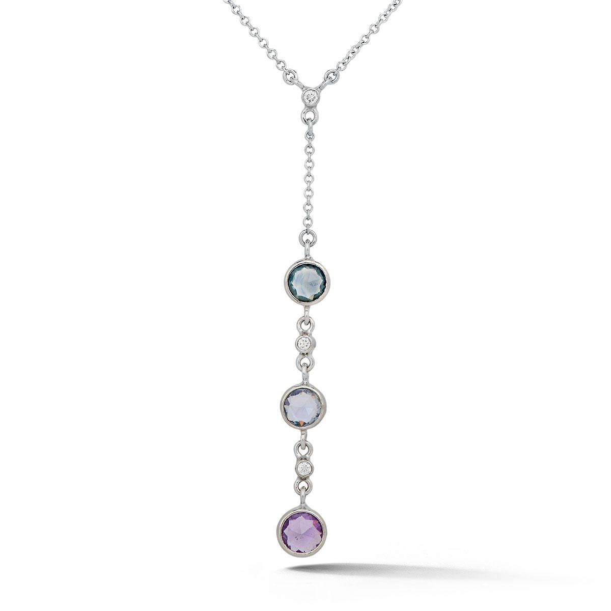 NP0198 Triple Sapphire Pendant