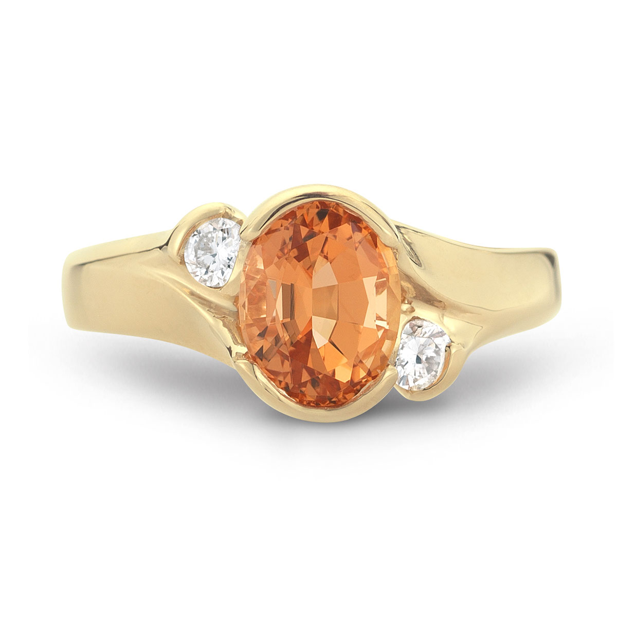 WR0186 Oval Gemstone Ring