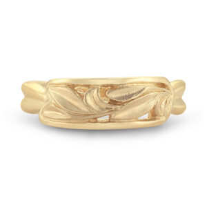 WR063 Framed Leaf Motif Ring