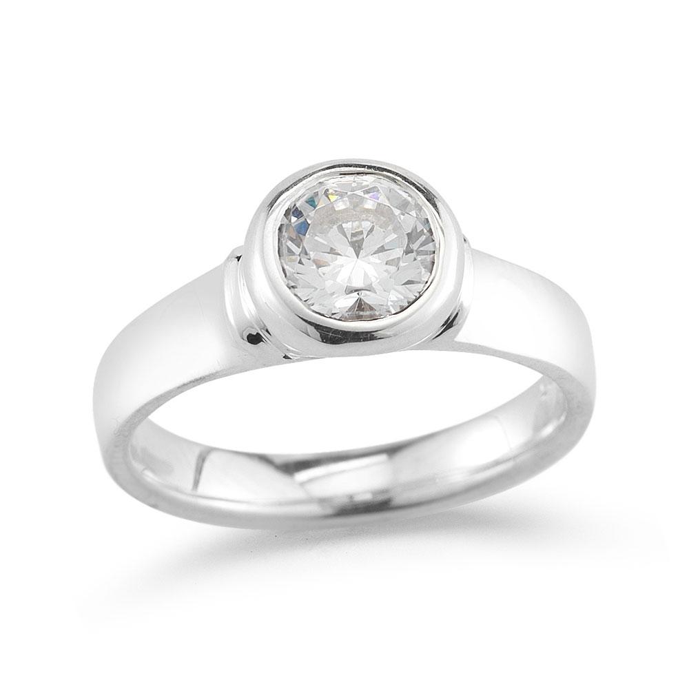 WR0192 Full Bezel Engagement Ring