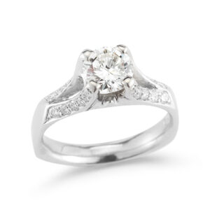 WR0199 Diamond Prong Engagement Ring