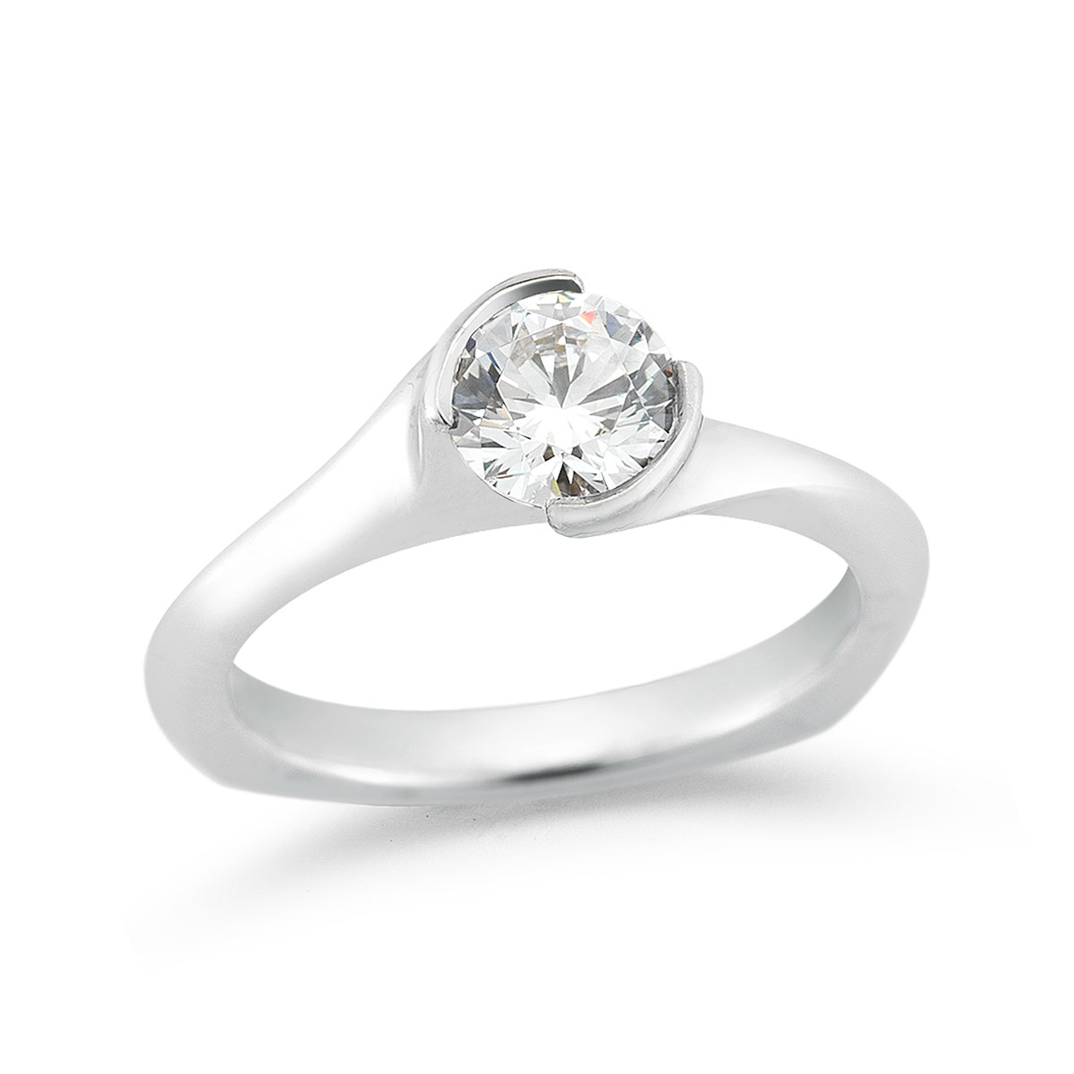 WR0202 Twist Engagement Ring