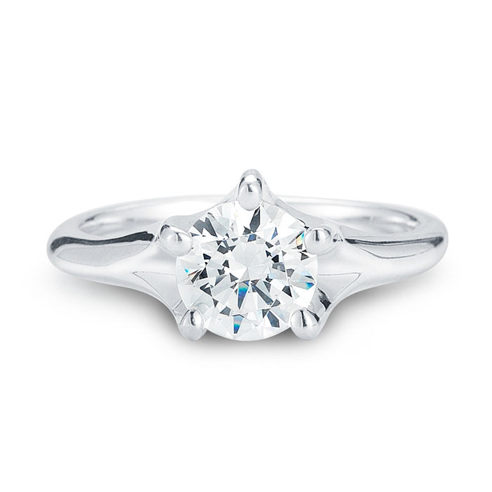 WR0239 Five Prong Engagement Ring