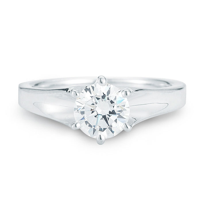 WR0251 Classic Six Prong Engagement Ring