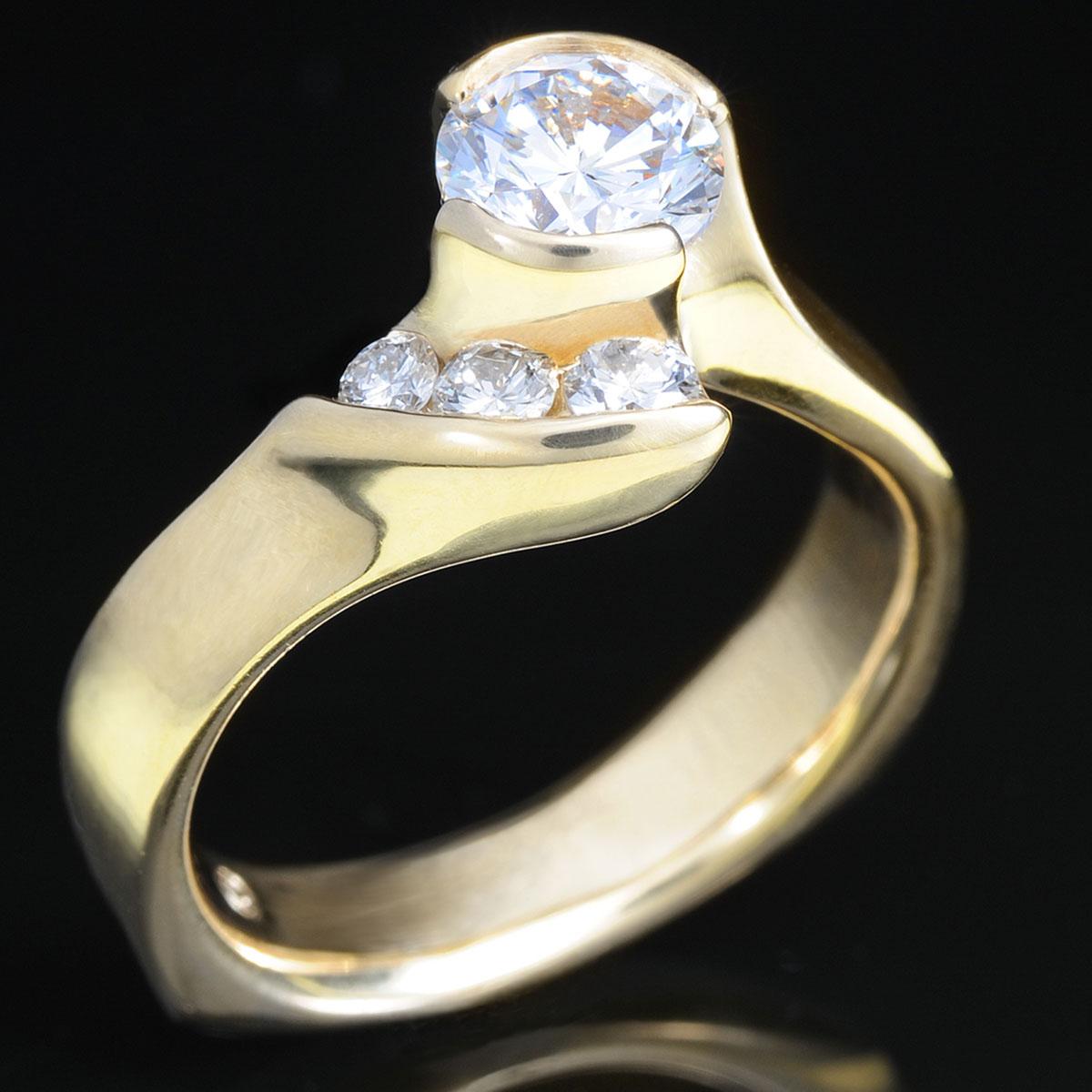 WR0255 Asymmetrical Wrap Engagement Ring