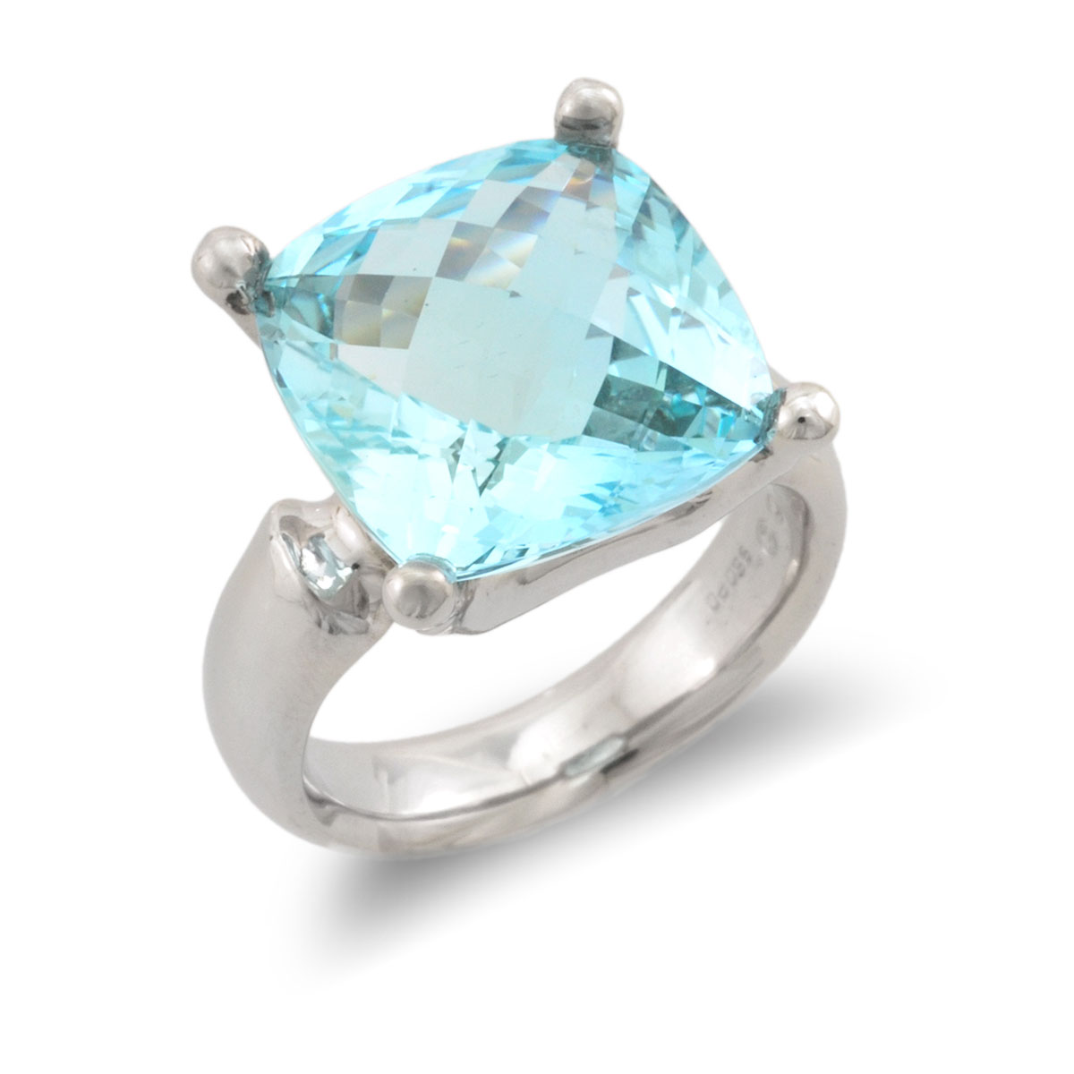 WR0260 Large Cushion Cut Ring