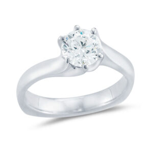 WR0296 Six Prong Twist Engagement Ring