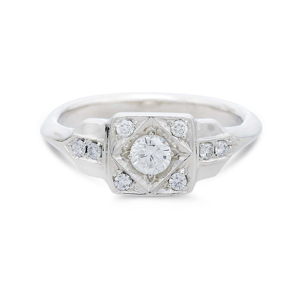 WR0326 Art Deco Diamond Ring