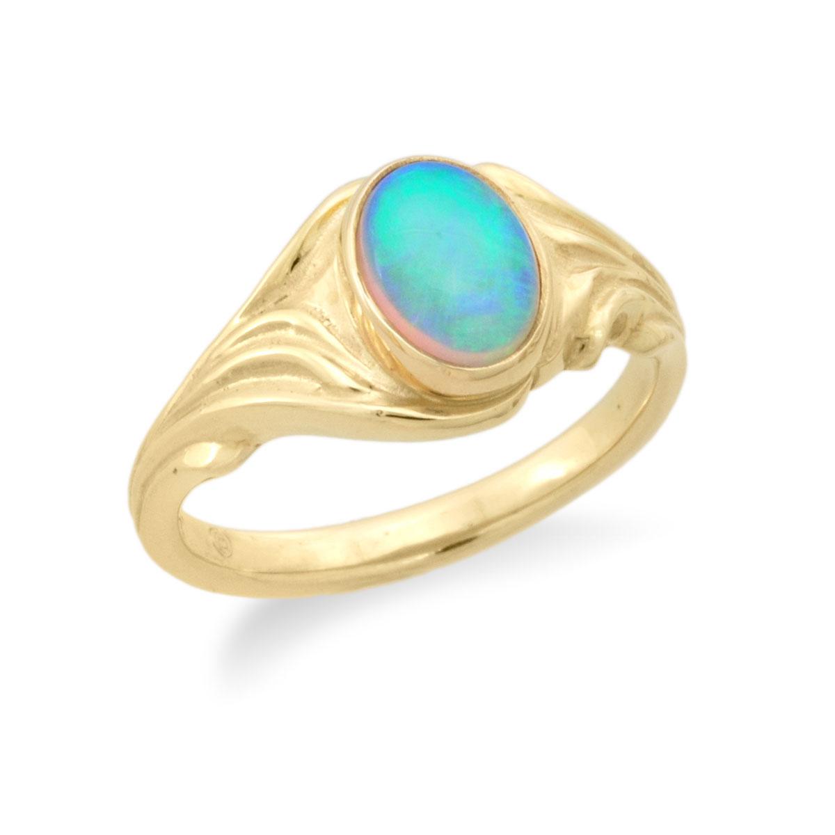 WR055 Art Nouveau Opal Ring