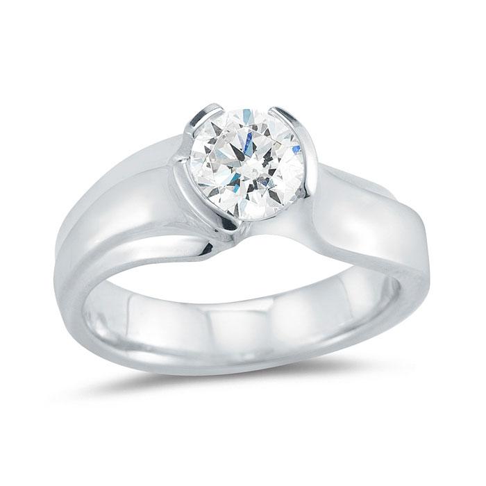 WR091 Asymmetrical Wrap Engagement Ring