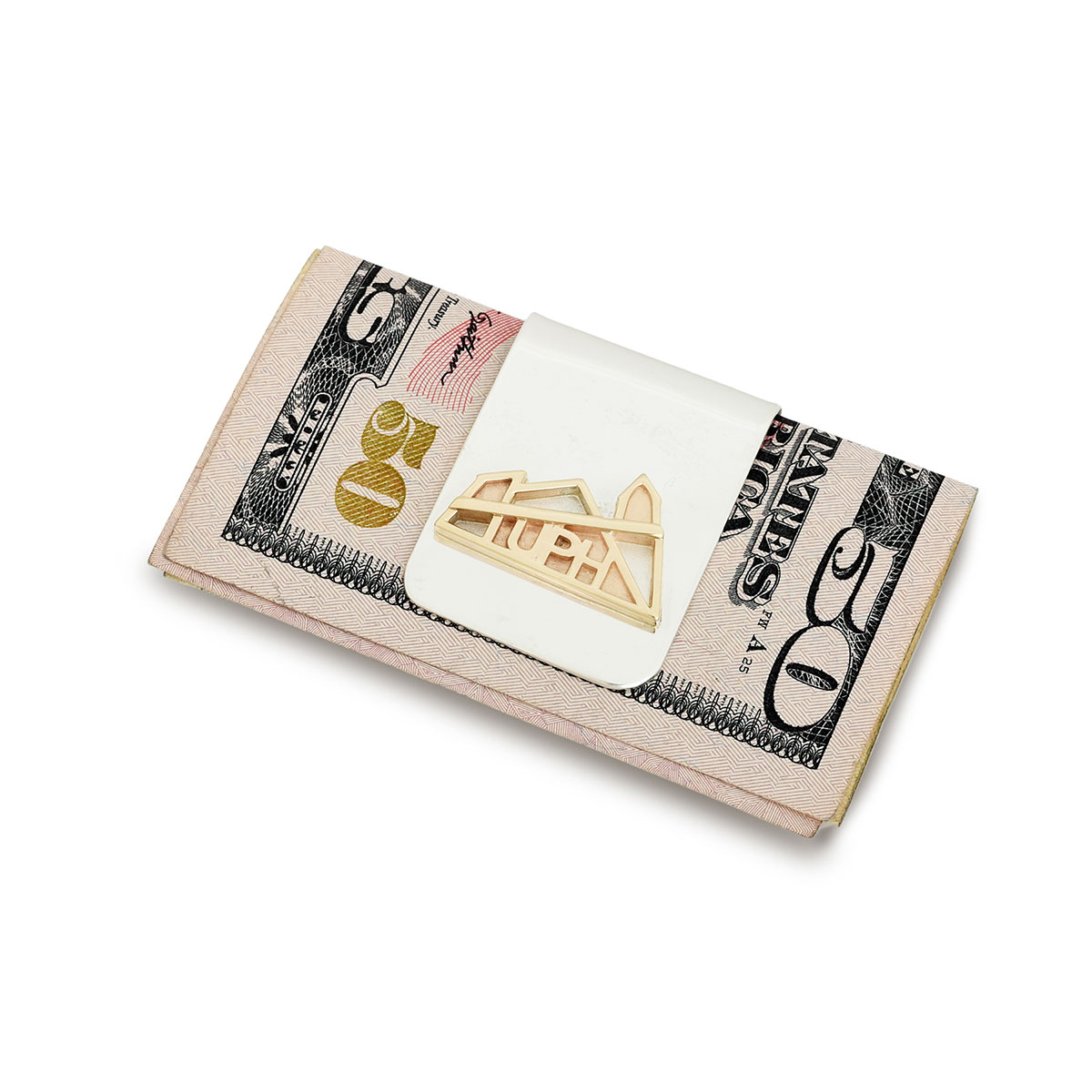 UPH Gold & Silver Money Clip