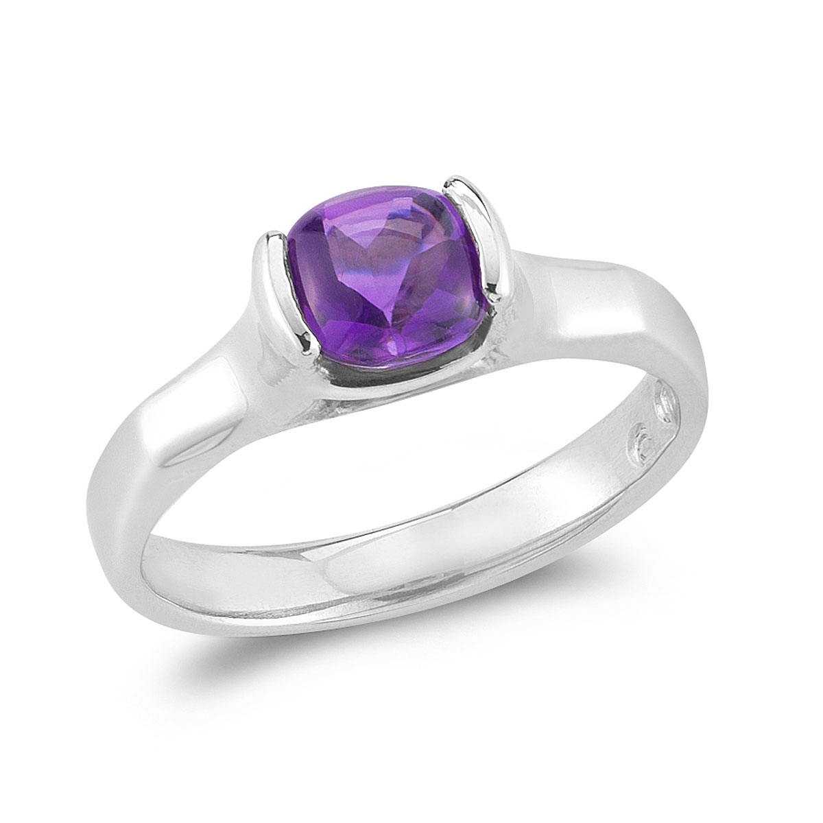 WR0172 Buff Top Gem Ring