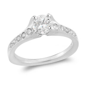 WR0285 Four Prong Engagement Ring