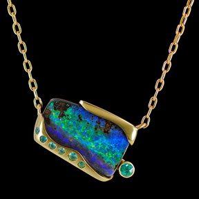 02-102 Boulder Opal Pendant