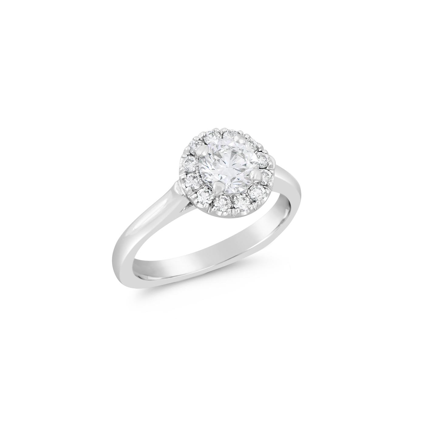 Round Halo Diamond Ring