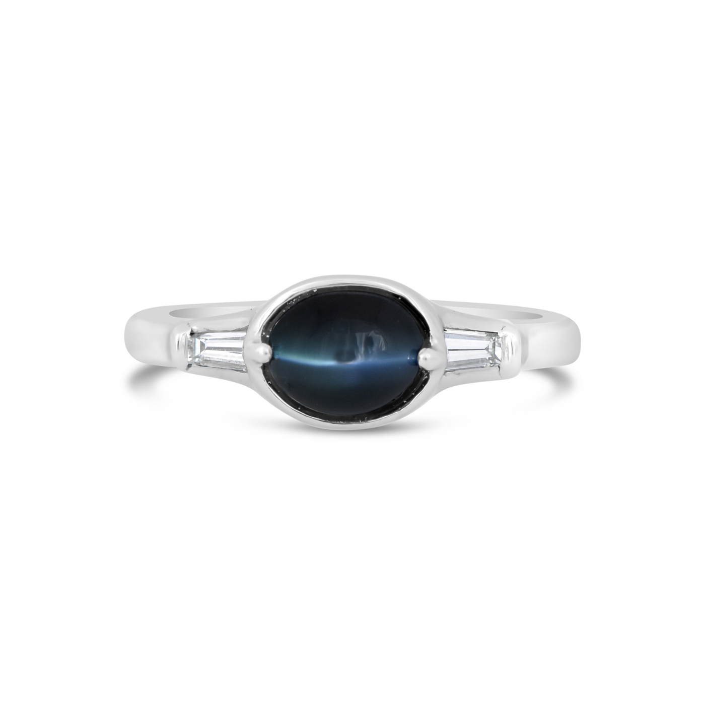 Cats Eye Alexandrite Platinum Ring IND0743