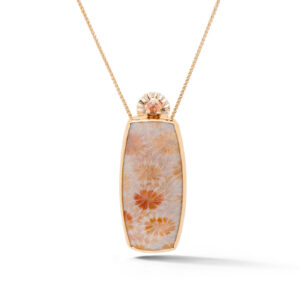 Coral and Orange Sapphire Pendant