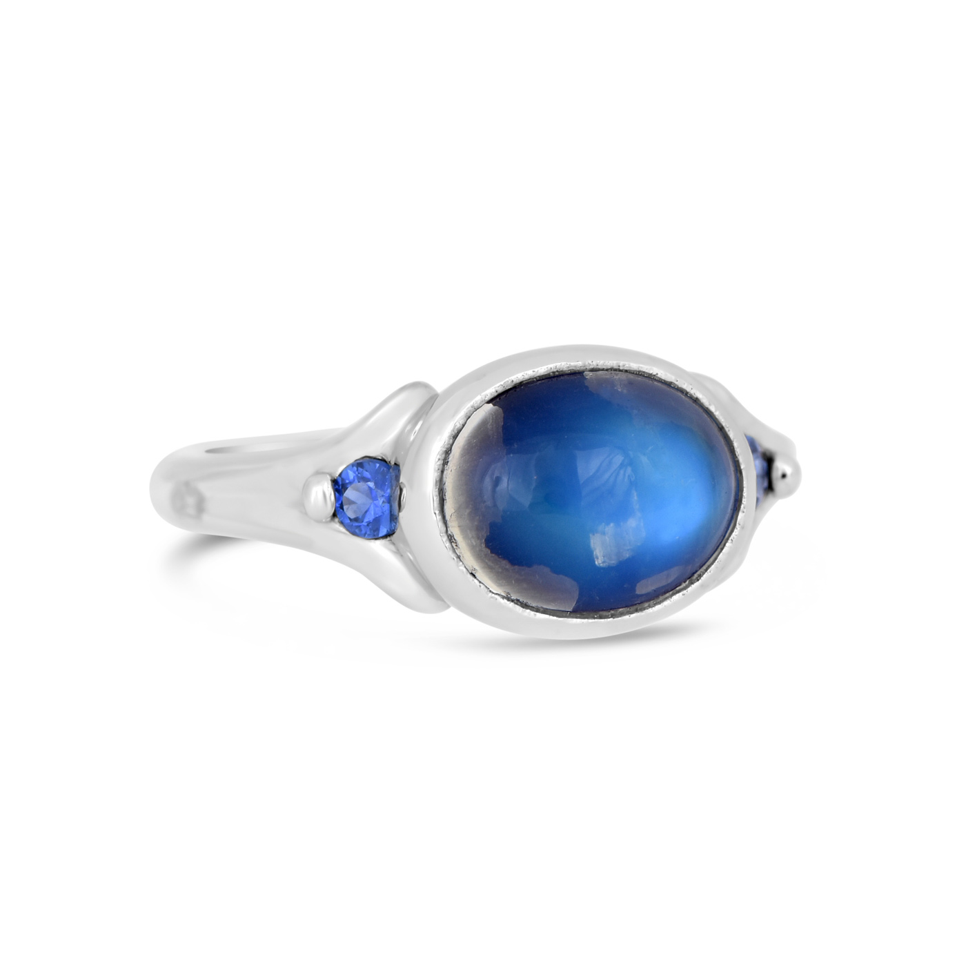 Moonstone and sapphire ring wr0123 dejonghe original jewelry for Sapphire studios jewelry reviews
