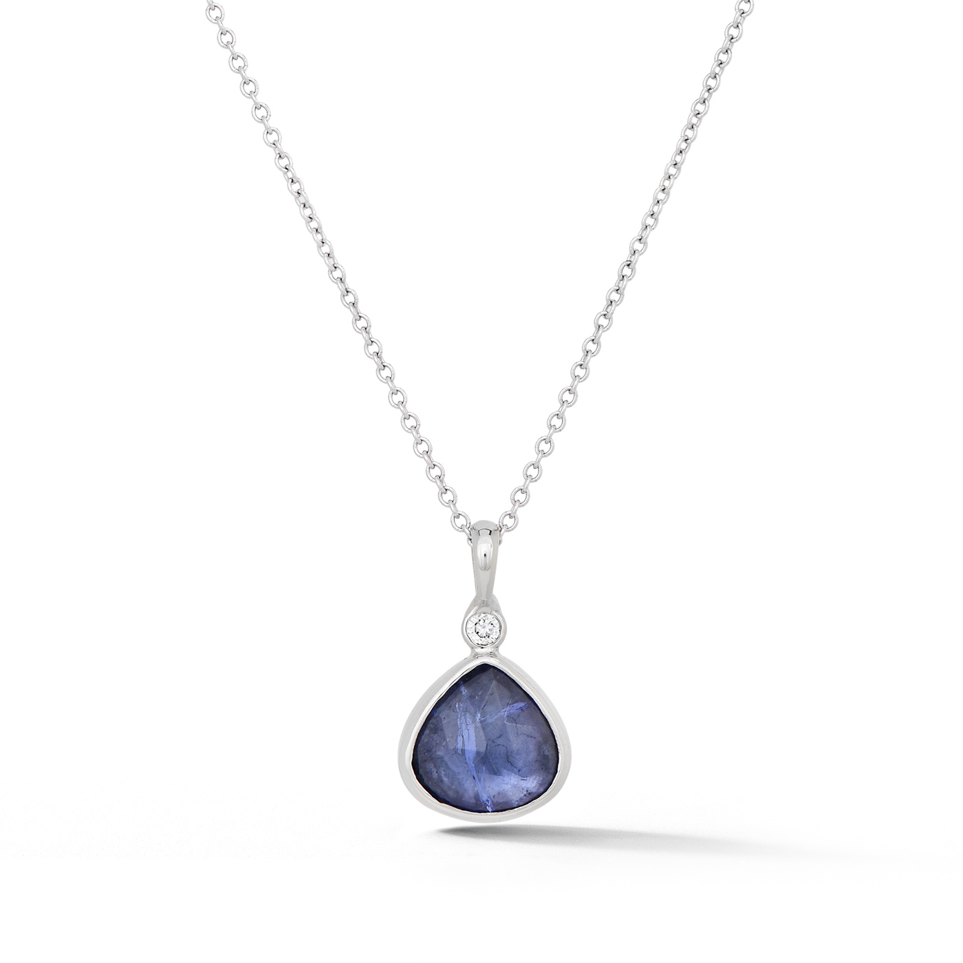 Tanzanite and Diamond Teardrop Pendant