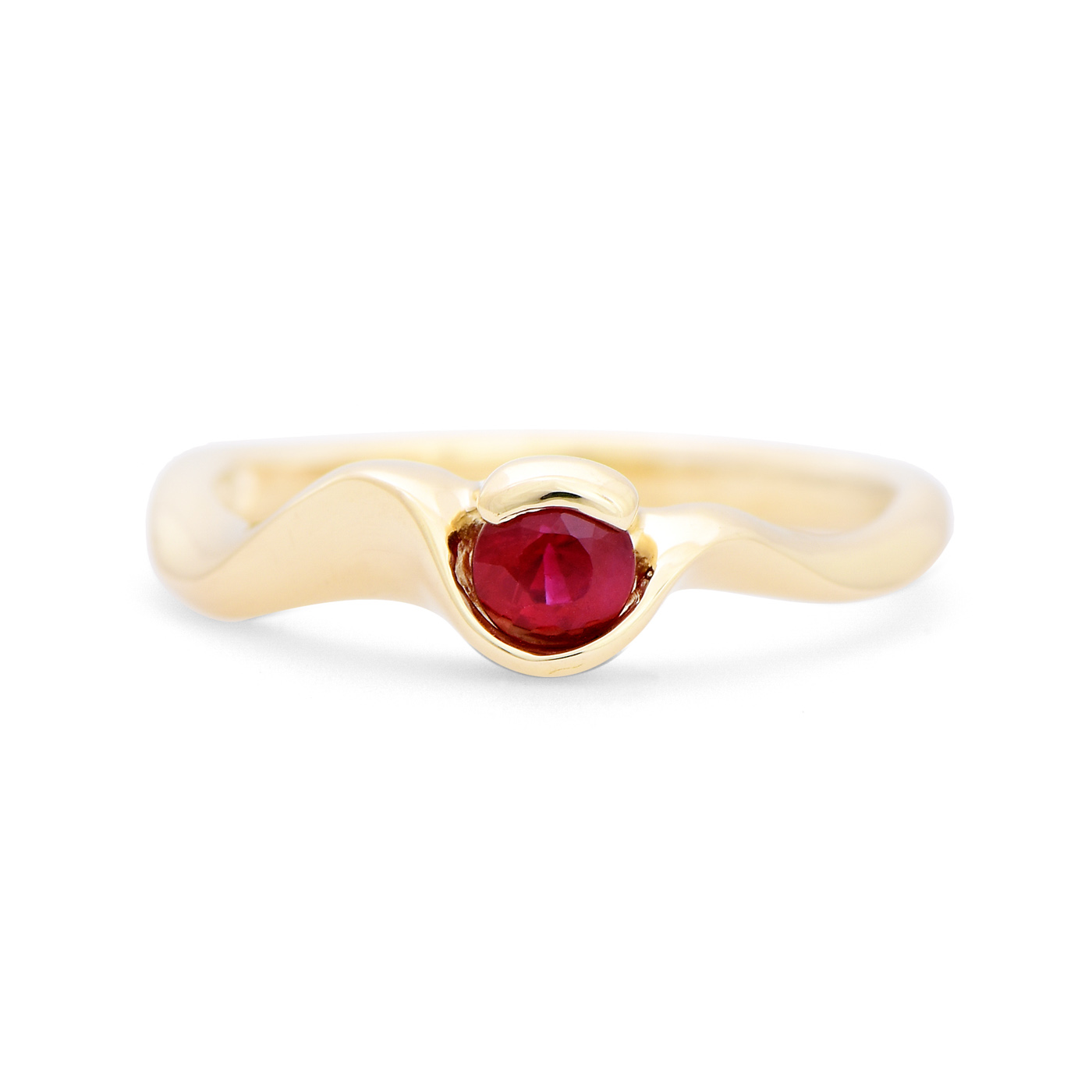 Curved Ruby Ring
