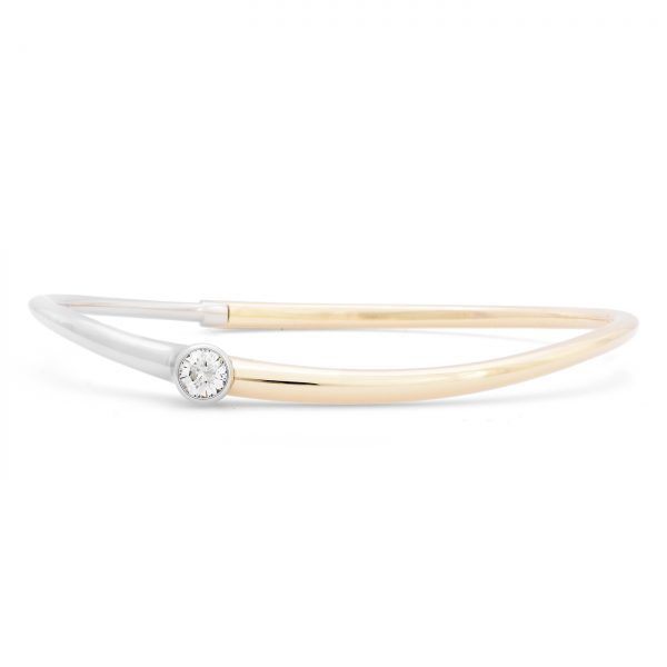 Curved Two Tone Diamond Bracelet
