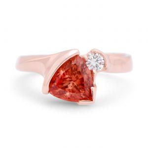Oregon Sunstone rose gold ring